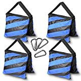 Photography Upgraded Heavy Duty Sandbag - Emart 4 Pack Photo Video Studio Stage Film Sand Bags for Backgrounds Light Stands Boom Arms Tripods