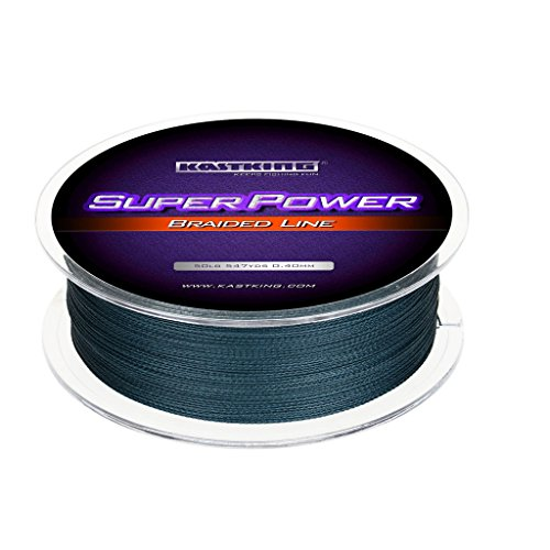 KastKing Superpower Braided Fishing Line,Low-Vis Gray,80 LB,(8 Strands),1097 Yds