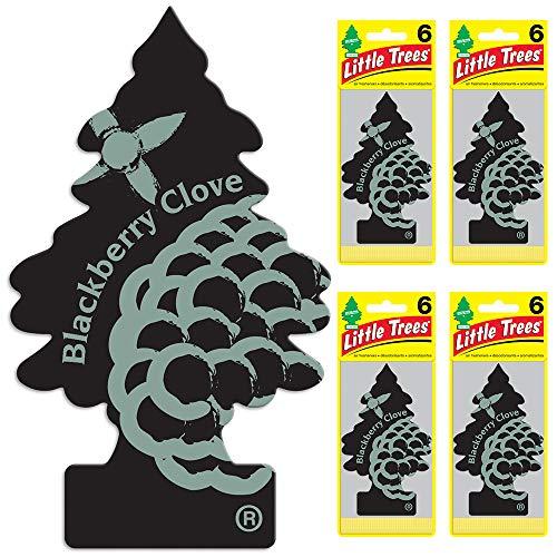 Little Trees auto air freshener, BlackBerry Clove, 6-Packs (4 Count)