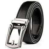 WERFORU Leather Ratchet Dress Belt for Men Perfect Fit Waist Size Up to 50inches with Automatic Buckle