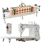 Juki TL-2000Qi 9' Long Arm Quilting Machine, Grace SR-2+ Quilting Frame and Grace Single Prong Speed Control