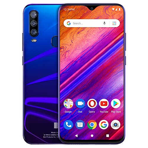 BLU G9 Pro -6.3' Full HD Smartphone with Triple Main Camera, 128GB+4GB Ram -Nightfall