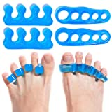 Premium Gel Toe Separators, Straighteners & Spacers | Hammer Toe & Bunion Corrector For Men & Women | Correct Your Toes Naturally | Use for Pedicure, Yoga & Running