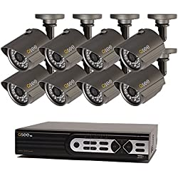 Q-See Surveillance System QTH916-8AG-2 16-Channel HD Analog DVR with 2TB Hard Drive, 8-720p Security Cameras (Black)