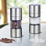 Mill Grinder - Manual Salt Pepper Mill Grinder Stainless Steel Portable Seasoning Muller Spice Machine - Spice Harley Bow Coffee Meat Salt Electric Manual Set Seasoning