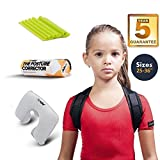 PANADY Posture Corrector, Comfortable with 5 Years Warranty, 28-35' (Black Teens)