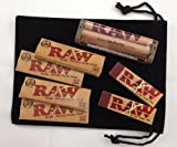 Raw 1 1/4 Deal - 1 1/4 Classic Rolling Papers, 79mm Rolling Machine and Filter Tips - INCLUDES - Black Velvet Pouch