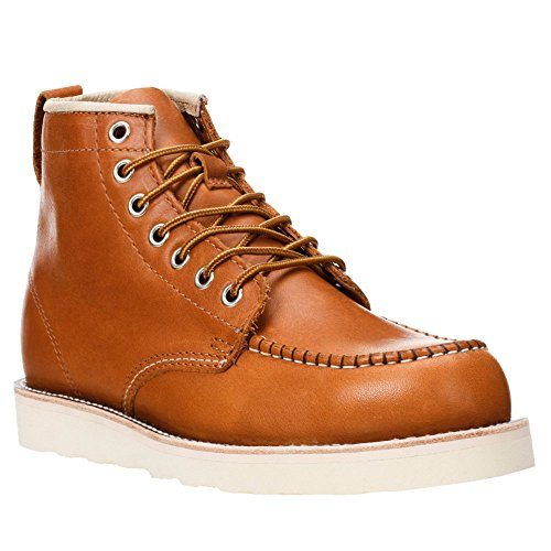Golden Fox Work Boots 6' American Heritage Moc Toe Wedge Boot for Construction Made in USA