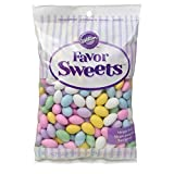 Wilton Jordan Almonds, Ideal for Individually Packaged Edible Wedding and Baby Shower Favors, Use for Easter or Spring Celebrations, Mega Pack, Assorted Pastel Colors (44 oz.)