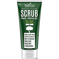 Tea Tree Oil Exfoliating Scrub with Activated Charcoal, Neem Oil & Natural Pumice