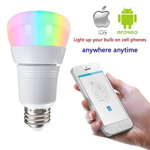 LAKES LED Smart WiFi Light Bulb, 7W (60W Incandescent Equivalent), RGB Multicolor Compatible with Alexa Google Home Assistant, Decorative Lamp for Christmas, Halloween, Festival, Party, Pack of 1