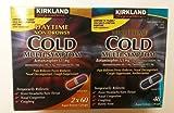 Kirkland Signature Multi-Symptom Cold Day2 X 60ct & Night 48ct Rapid Release Gelcap, 0.53 Pound