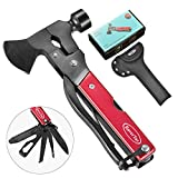 14 in 1 Stainless Steel Multitool in Durable Black Oxide, Gifts for Men & Women, Perfect for Camping, Survival Kit, Outdoors, Car Tool with Hammer, Axe, Knife, Plier, Screwdrivers, Saw, Bottle Opener+