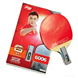 DHS Ping Pong Table Tennis Racket Paddle Bat 6 Star Penhold Short Handle Double Pimples-in Bat 6006