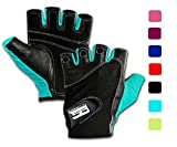 RIMSports Gym Gloves for Powerlifting, Weight Training,Biking, Cycling - Premium Quality Weights Lifting Gloves - Washable, Gloves for Callus and Blister Protection Turquoise M