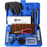 WYNNsky Universal Tire Repair Kit, Plug Flat and Punctured Tires 60 Pcs Heavy Duty Tubeless Tire Plug Tools for Motorcycle, ATV, Jeep, Truck and Tractor Flat