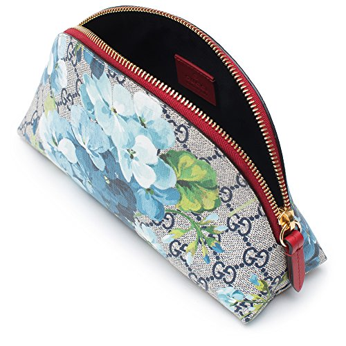 6913149dc19b Gucci Red Blossoms Blue Italy Chain Flowers Bag Leather Authentic ...