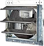 Iliving 12 Inch Variable Speed Shutter Exhaust Fan, Wall-Mounted, 12'