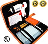 Hot Melt Glue Gun Kit 60W/100W with Carry Bag and 20 pcs Glue Sticks, for DIY, Arts & Crafts Projects, Sealing and Quick Repairs, Light and Heavy Duty in Home and Office