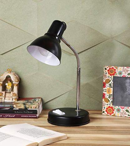 Ntu-282-Black-Steel-Metal-Shade-Study-lamp-with-Metal-Base-by-tu-casa-Holder-type-b-22-Bulb-not-Included