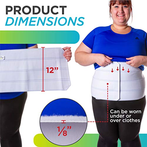 BraceAbility 4XL Plus Size Bariatric Abdominal Stomach Binder | Obesity Girdle Belt for Big Men & Women with a Large Belly, Post Surgery Tummy & Waist Compression Wrap 6