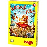 HABA Wobble King - A Fast Paced, Risky, Wobbly Game of Balance & Dexterity for 2-4 Players Ages 4+ (Made in Germany)