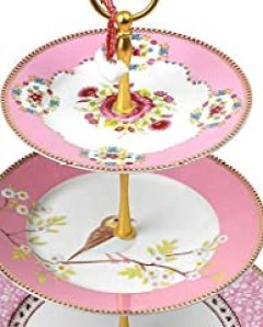PiP Studio Shabby Chic 3 Tier Cake Stand Pink