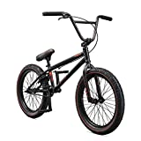 Mongoose Legion L60 Freestyle BMX Bike for Intermediate to Advanced Riders, Featuring Hi-Ten Steel Frame and Micro Drive 25x9T BMX Gearing with 20-Inch Wheels, Black/Orange