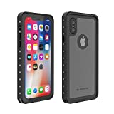 OUNNE iPhone Xs/iPhone X  Waterproof Case,  Underwater Full Sealed Cover Shockproof Dirtproof Snowproof IP68 Certified Waterproof Case with Built-in Screen Protector for iPhone X/Xs-(5.8inch)