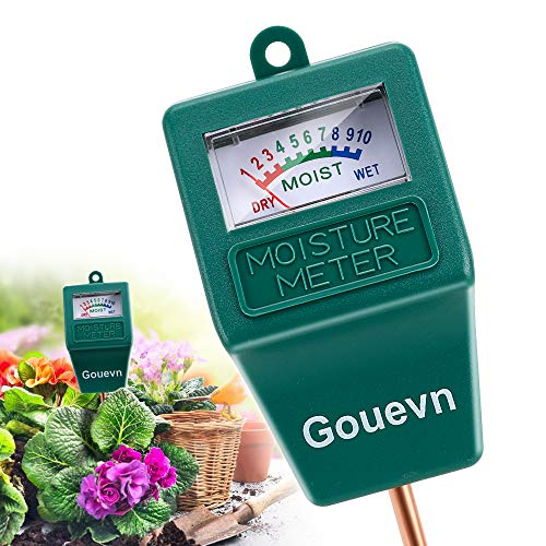 Gouevn Soil Moisture Meter, Plant Moisture Meter Indoor & Outdoor, Hygrometer Moisture Sensor Soil Test Kit Plant Water Meter for Garden, Farm, Lawn (No Battery Needed)