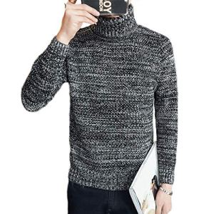 NanGate S39 and Turtleneck Sweater Male Trend Collar Sweater Comfortable Teenage Thickening Basic