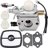 Anzac C1U-K51 Carburetor & Tune Up Kit Air Filter Primer Bulb Spark Plug for Echo HC-1500 HC-1600 HC-1800 HC-2000 HC-2400 HC-2410 Zama C1U-K45