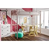 Your Zone Metal Loft Twin Bed by SuperIndoor (Pink) (Pink)