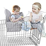 YOUTHINK 2-in-1 Baby Seat Cover for Shopping Carts,Grocery Cart Trolley and Restaurant High Chair Basket Cover Seat for Infantino Babies Twins