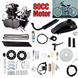 ExGizmo 80cc 2-Stroke Bicycle Gasoline Engine Motor Kit DIY Motorized Bike Single Cylinder Air-cooled