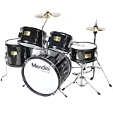 """This Mendini by Cecilio 5-Piece Junior Drum Set with Cymbals is an """"all-in-one"""" fully functional drum set designed specifically for entry level drummers. This set has everything you need to get set up and playing in no time. It is a perfect gift for ..."""