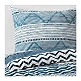 IKEA Provinsros Duvet Cover and Pillowcases White Blue Size: King 303.901.54