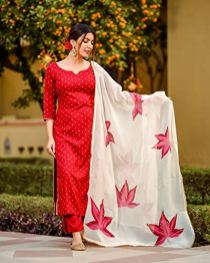 ANNI-DESIGNER-Womens-Raspberry-Handpainted-Suit-Set