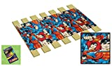 """Product review for Custom Made in the U.S.A.! Youth/Toddler Size Superman Fleece Comic Book Hero Themed Bed Slats Bunky Boards - Cut to the Width of Your Choice (30"""" Wide) - FREE box of Crayons with Purchase"""