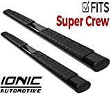 Ionic Voyager Plus Black Running Boards (Fits) 2009-2014 Ford F150 SuperCrew