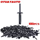 OTUAYAUTO 100PCS Plastic Rivet Clip, for Jeep Wrangler 07-15, Chrysler 300 99-10, Dodge Avenger 08-14, Nylon Fastener