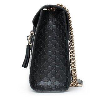 41b6fd5ef22d Gucci Women's Micro GG Guccissima Leather Emily Purse Handbag (Black ...