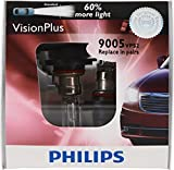 Philips 9005 VisionPlus Replacement Bulb (High-Beam), (Pack of 2)