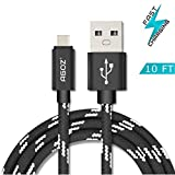 Agoz Braided Type C USB Fast Charger Data Cable Cord for GoPro Hero 7, Hero 6, Hero 5, Fusion, Karma Grip, Apple TV 4th Gen, Verizon Mifi 7730L Jetpack 4G Hotspot, Google WiFi, Nintendo Switch (10ft)
