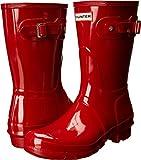 Hunter Women's Original Short Military Red Gloss Rain Boot - 9 B(M) US