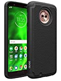 Moto G6 Case, OEAGO [Shockproof] Hybrid Dual Layer Defender Protective Case Cover for Motorola Moto G6 (G 6th Generation) (Black)