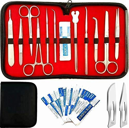 22 Pcs Superior Dissecting Package for Anatomy and Biology Medical College students with Scalpel Knife Deal with | 100% Stainless Metal Dissecting Package | Two Surgical Masks deal 50% off 51pYxCZ 2Bx1L