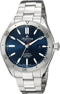 Alpina Men's Alpiner 4 Swiss-Automatic Watch with Stainless-Steel Strap, Silver, 22 (Model: AL-525NS5AQ6B)