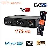 GT MEDIA Freesat V7S FTA Satellite TV Receiver HD DVB-S/S2 SAT Finder TV Decoder,Supports PowerVu,DRE & Biss Key,YouTube,Newcam ect.