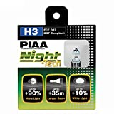PIAA 10703 H3 Night Tech High Performance Halogen Bulb, (Pack of 2)